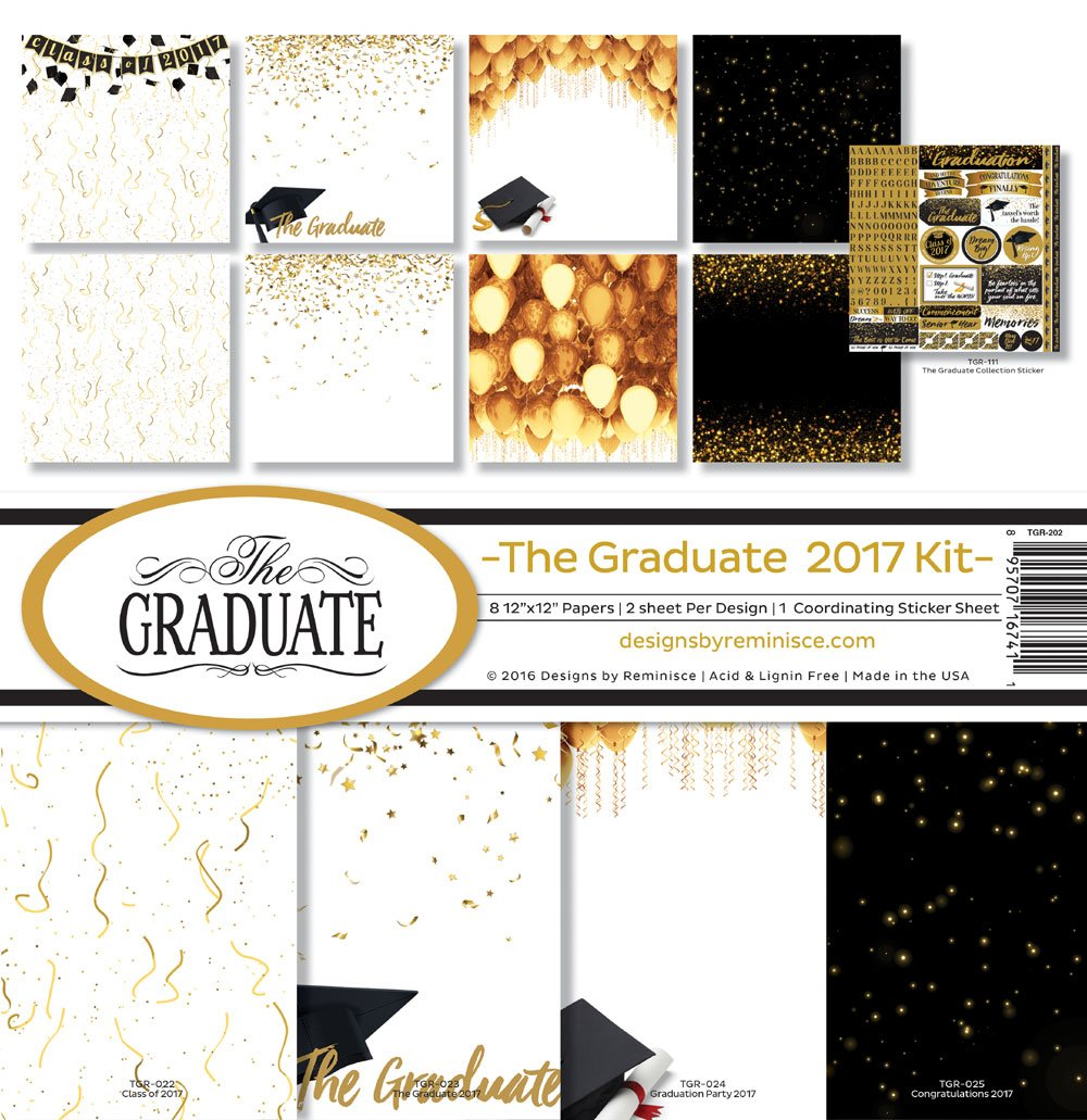 Reminisce TGR-202 The Graduate 2017 Scrapbook Collection Kit