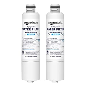 AmazonBasics Replacement Samsung DA29-00020B Refrigerator Water Filter - Advanced Filtration - 2-Pack