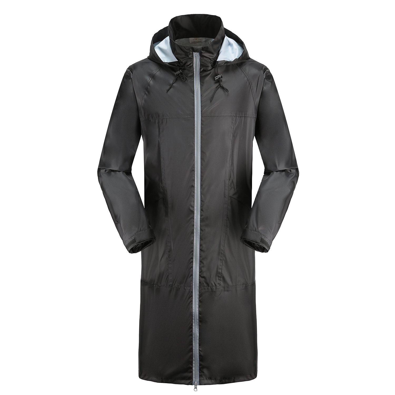 Rainfun Raincoat Casual Rain Jacket Lightweight Windbreaker Water Resistant Hoodie for Men and Women (Medium)