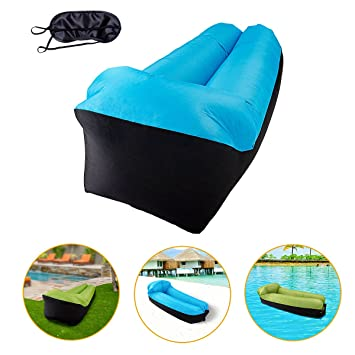 Sofa Hinchable KeepSa tumbona inflable cama con almohada integrada ...