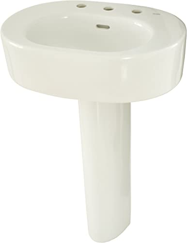 TOTO LPT790.8 11 Nexus Lavatory and Pedestal with 8-Inch Centers, Colonial White