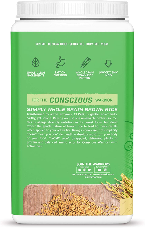 Sunwarrior Protein Classic, 750 G, Pack de 1