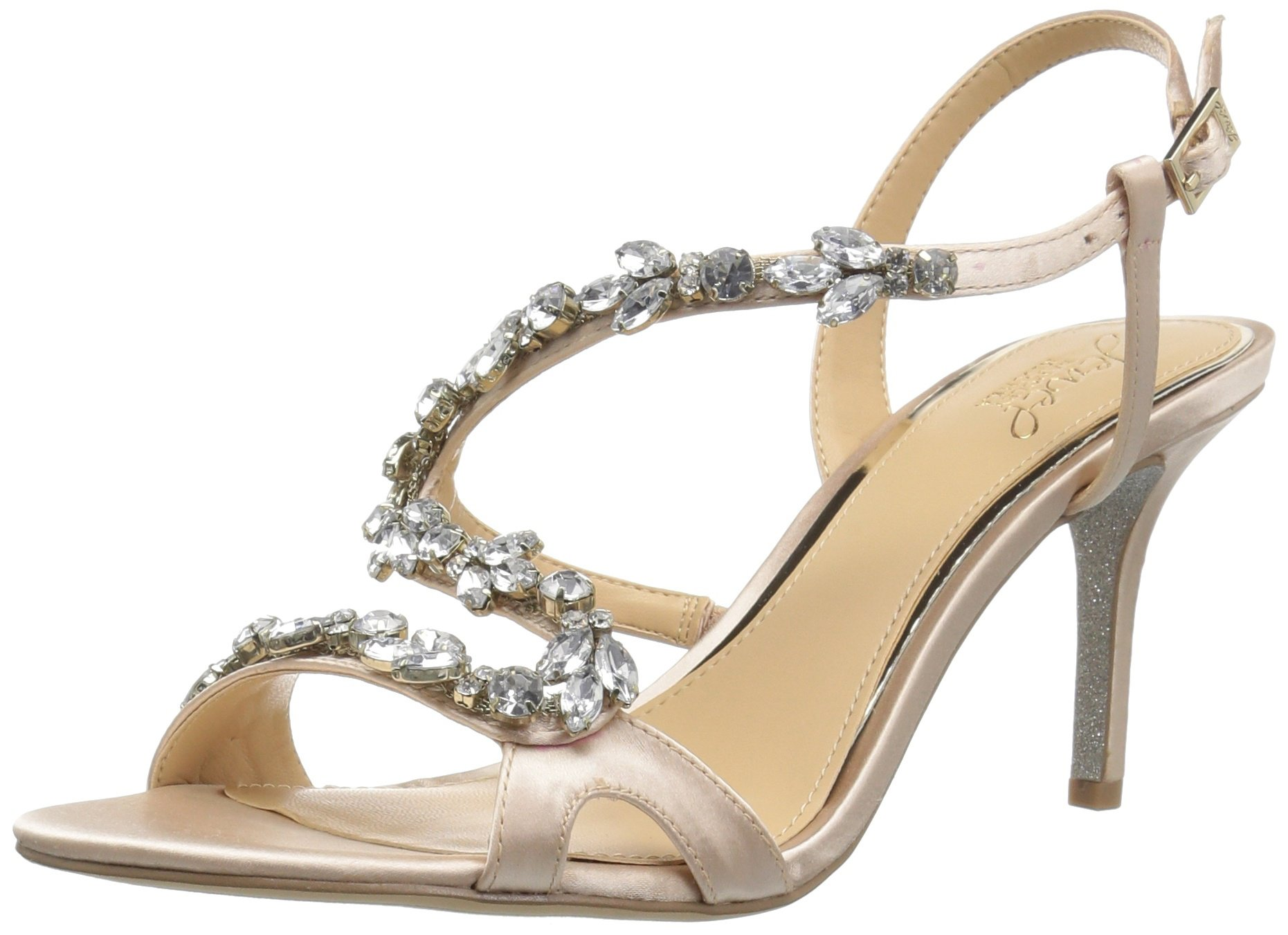 Badgley Mischka Jewel Women's Ganet Heeled Sandal, Champagne, 11 Medium US