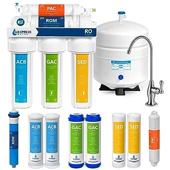 Sistema de filtración de agua de ósmosis inversa Express Water, 5 ...