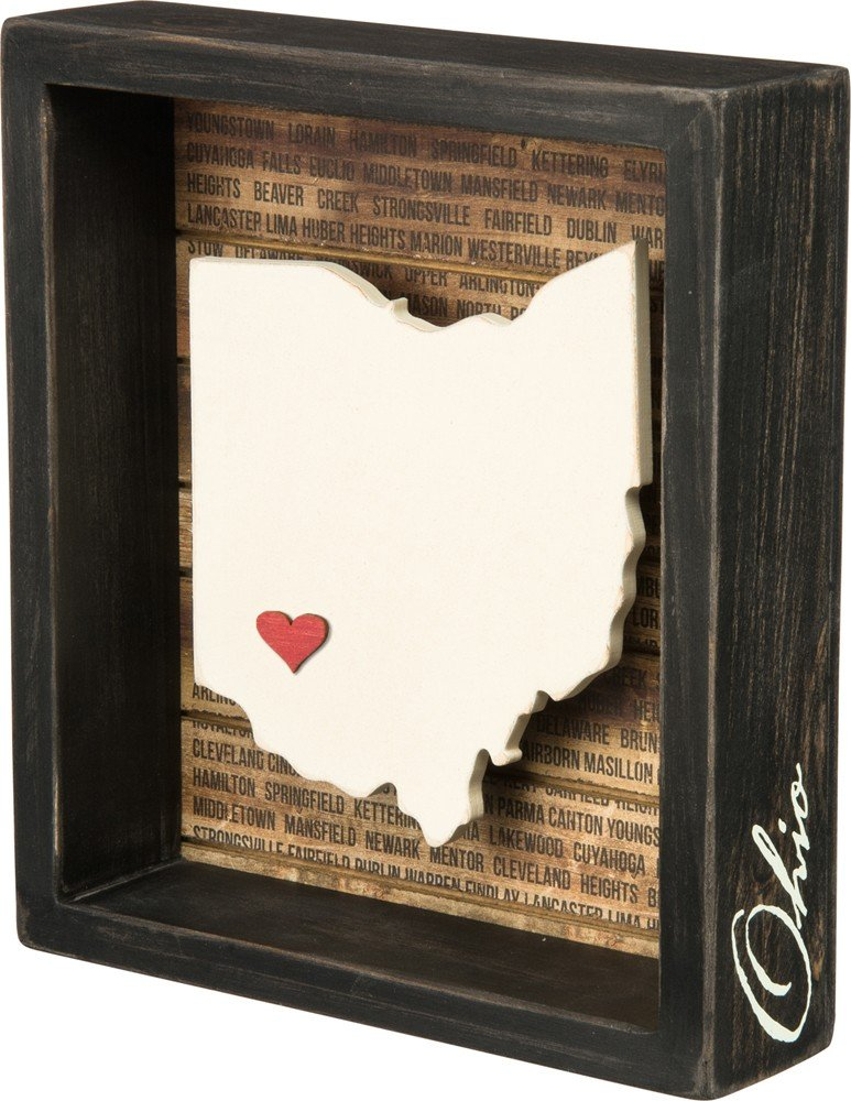 "Primitives by Kathy Box Sign, 6.75"" x 7.5"", Ohio"