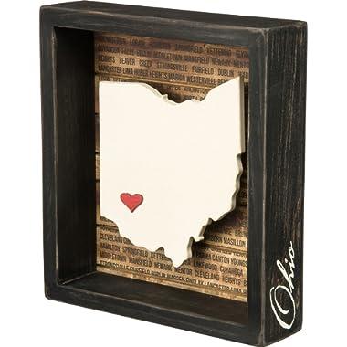 Primitives by Kathy Box Sign, 6.75  x 7.5 , Ohio