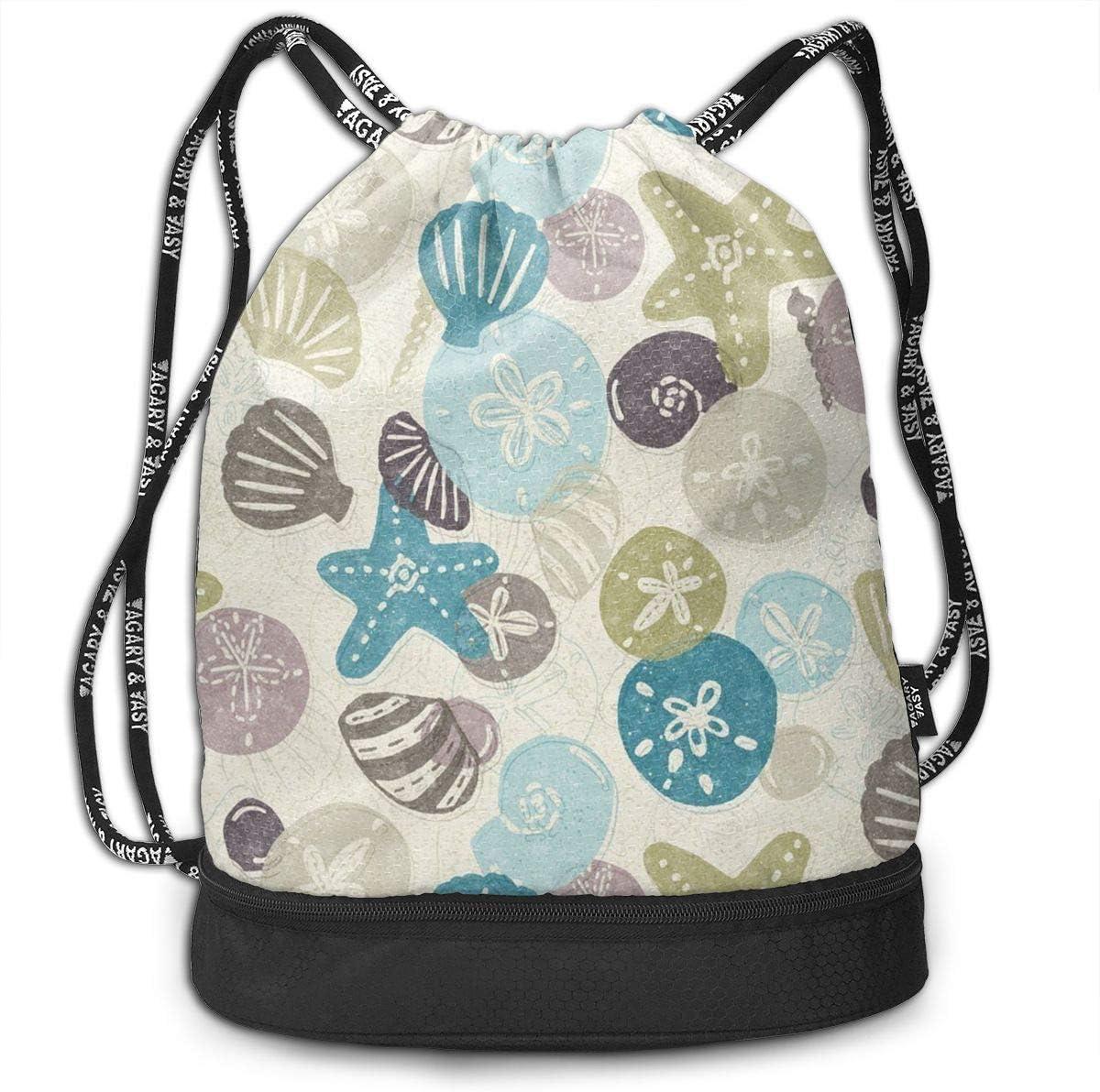 HUOPR5Q Starry Galaxy Drawstring Backpack Sport Gym Sack Shoulder Bulk Bag Dance Bag for School Travel