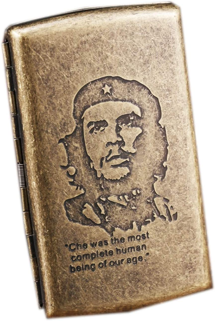 Estuche de Cigarrillos de Metal PortáTil para Hombres Estuche de Cigarrillos de CompresióN Compresiva a Prueba de Humedad FáCil de Poner en El Bolsillo (Color : Che Guevara)