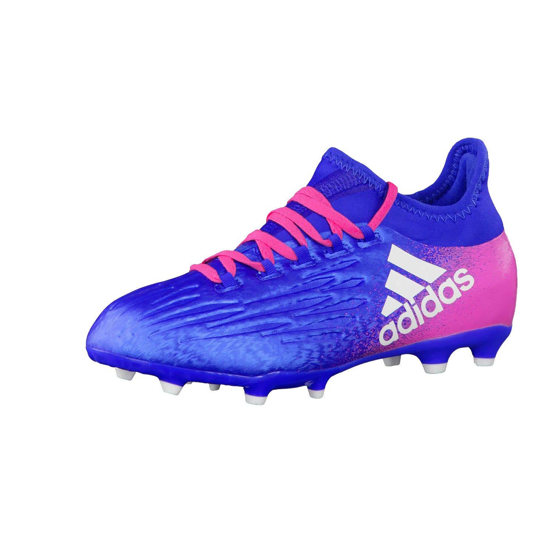 Adidas Jungen X 16.1 Fg J Fußballschuhe, Rot und versilbert, 36.5 EU