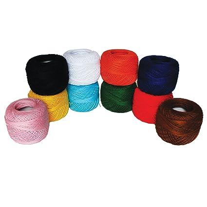 Amazon com: Crochet Thread (10 Pack) Cotton Yarn Threads
