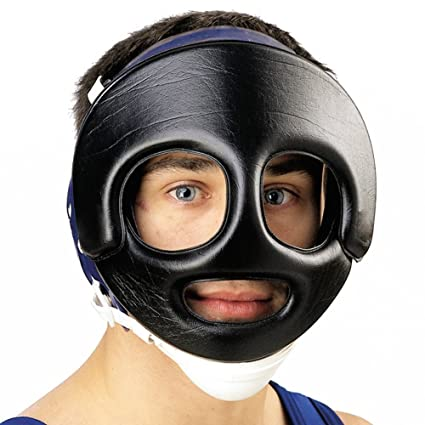 40e28dbb703 Amazon.com   Cliff Keen Wrestling Face Guard Black   Wrestling ...