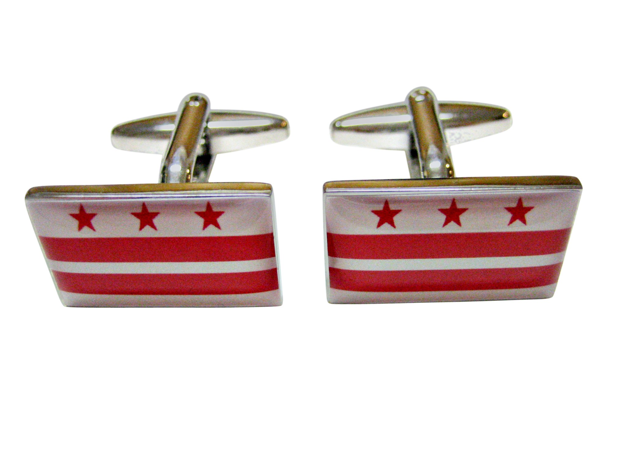 Washington DC District of Columbia Flag Cufflinks