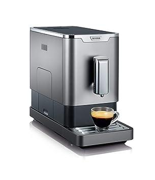Severin KV 8090 Independiente Totalmente automática Máquina de café en grano 1.1L Gris, Metálico
