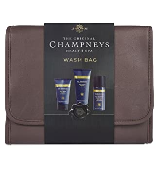 9c091da63c Champneys Spa Essentials Hanging Wash Bag For Men GIFT SET  Amazon ...
