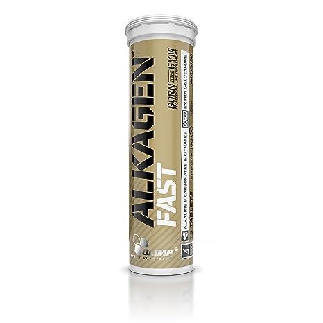 Olimp Sport Nutrition Alkagen Fast Effervescent Regulador de Acidez, Sabor Naranja - 15 Tabletas