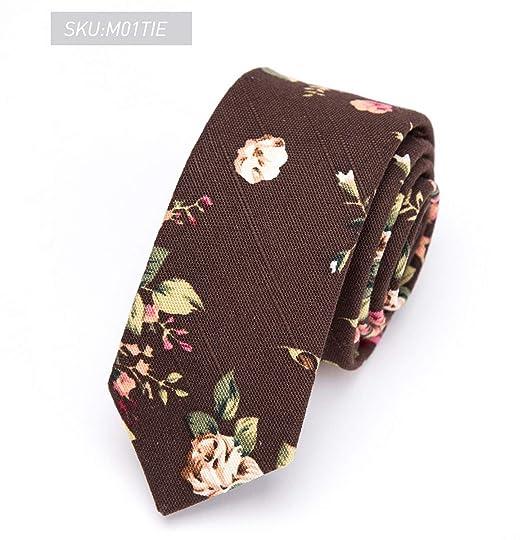 Pragmaticv Corbata de algodón para hombre con estampado de 5 cm ...