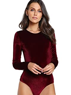 Somedays Lovin Women s Allure Velvet Bodysuit at Amazon Women s ... bf41db971