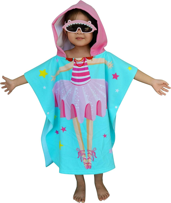 pool towel Girl ballerina hooded towel girl ballerina beach towel,personalized kids bath towel kids beach wrap toddler hooded towel