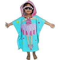 Athaelay Lightweight Microfiber Hooded Beach Towel for Kids, Toddlers Bath/Pool/Swim Poncho Cover-ups Swimwear (3D…