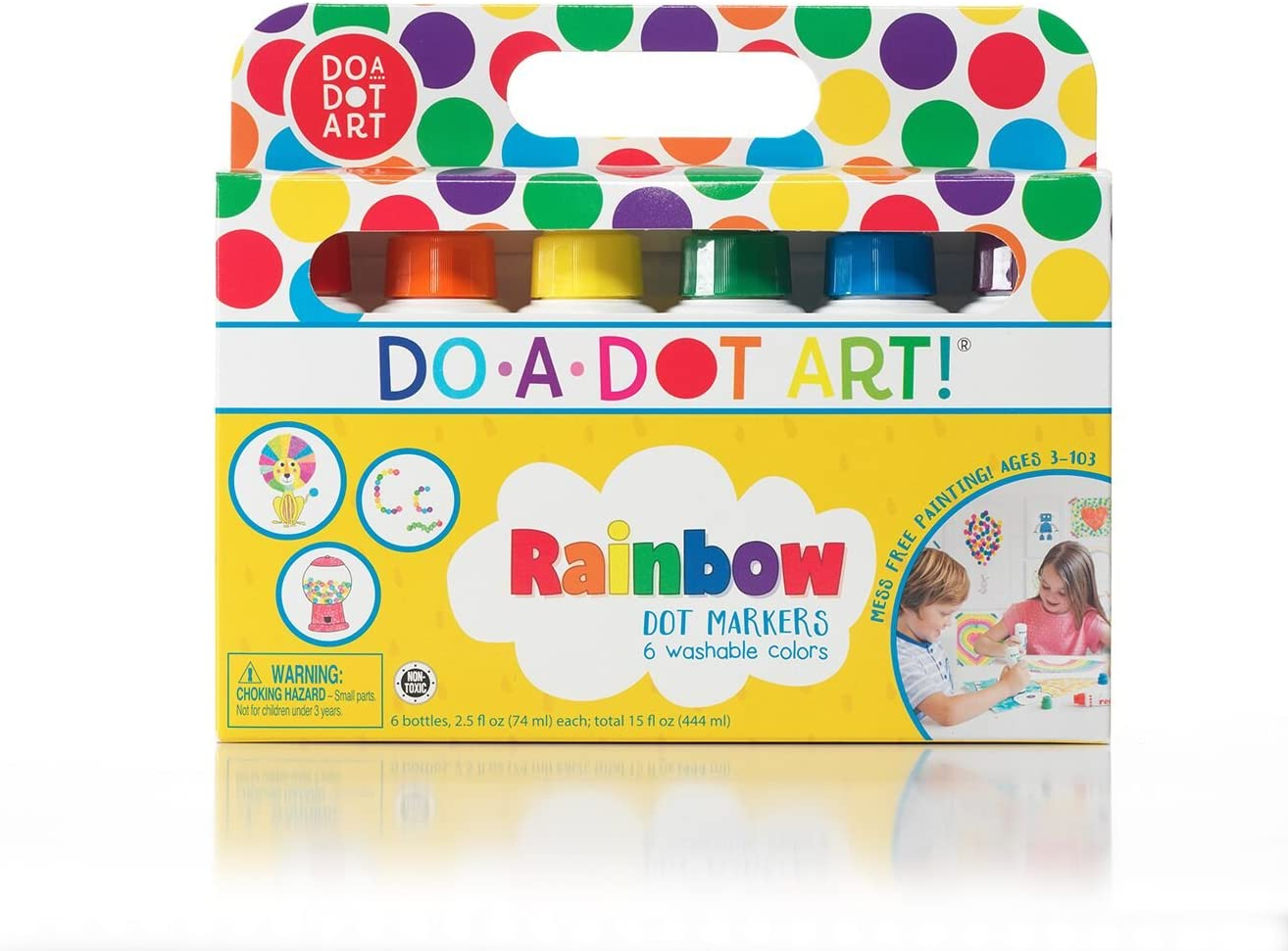 Amazon Com Do A Dot Art Markers 6 Pack Rainbow Washable Paint Markers The Original Dot Marker Toys Games
