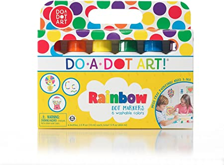 Do A Dot Art Markers 6 Pack Rainbow Washable Paint Markers The Original Dot Marker