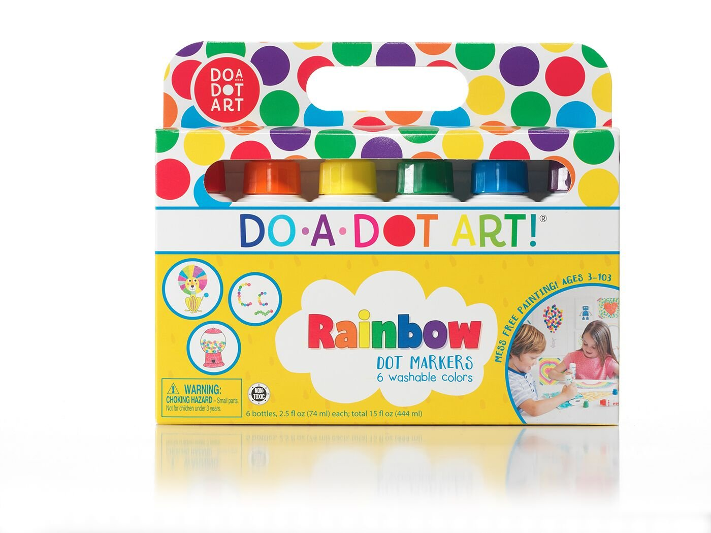 Do A Dot Art! Markers 6-Pack Rainbow Washable Paint Markers, The Original Dot Marker by Do A Dot Art