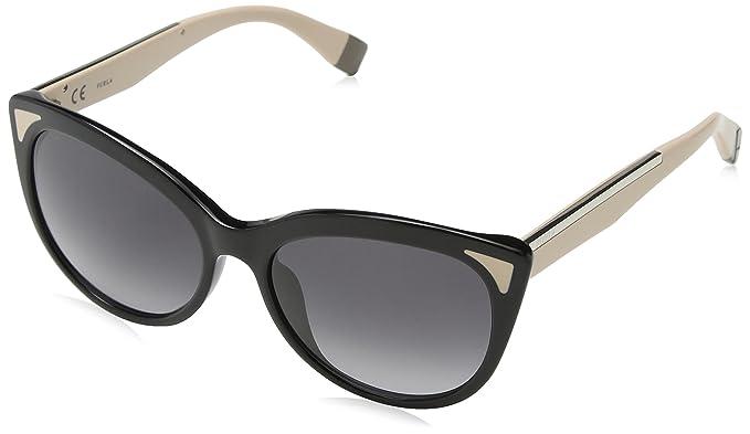 Furla Eyewear Damen Sonnenbrille, Schwarz (Shiny Black), 56