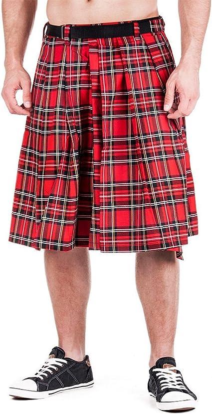 Falda escocesa de tartán rojo hasta 4XL: Amazon.es: Ropa y ...