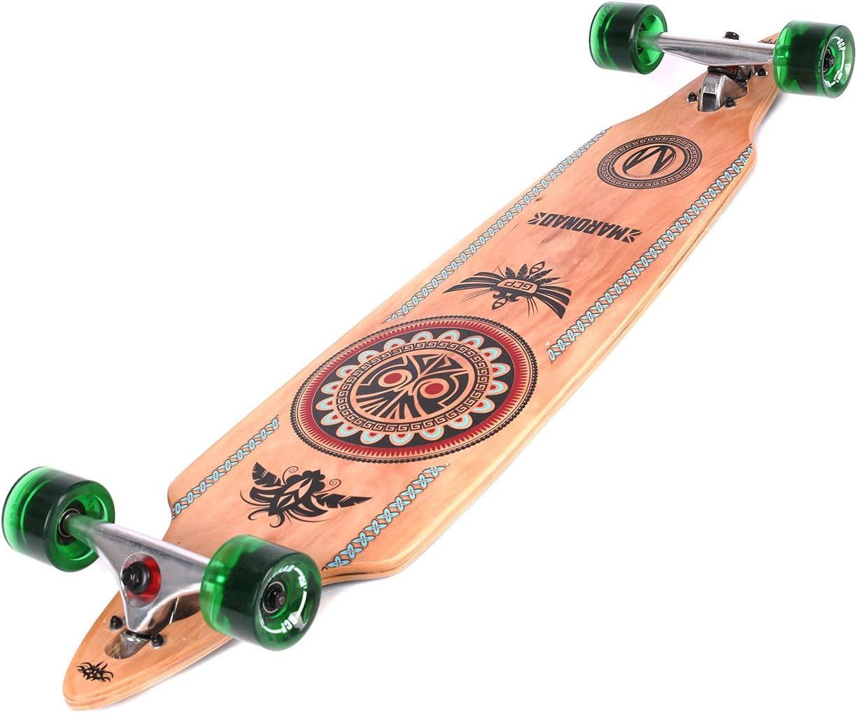 Skateboard Longboard Maronad pour du skate de rue fun Drop Through Race Cruiser ABEC/11 104/x/24/cm