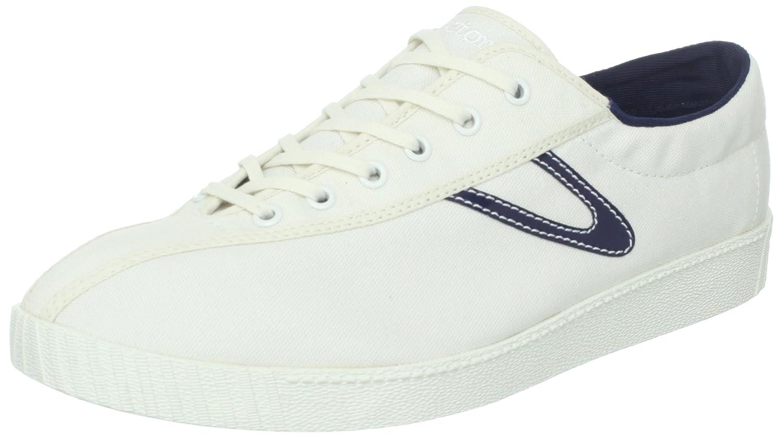 Tretorn Men's Nylite-Canvas Fashion Sneaker White/Peacoat Navy 7 D Tretorn Shoes Child Code Nylite Canvas-4722270