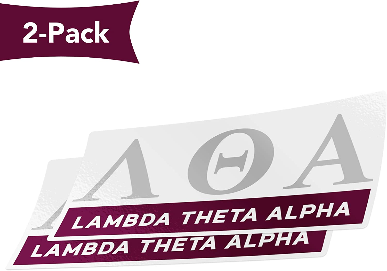 Desert Cactus Lambda Theta Alpha 2-Pack Color Letter//Name Sticker Decal Greek for Window Laptop Computer Car Color//Letter Name Sticker
