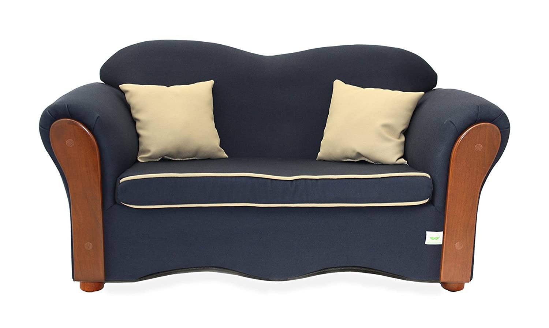 Amazon.com : KEET Homey VIP Organic Kidu0027s Sofa, Navy Blue : Childrens  Upholstered Armchairs : Baby