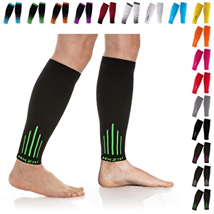 9c0acc840969fb NEWZILL Compression Calf Sleeves (20-30mmHg) for Men & Women - Perfect  Option to Our Compression Socks - for Running, Shin Splint, Medical,  Travel, Nursing