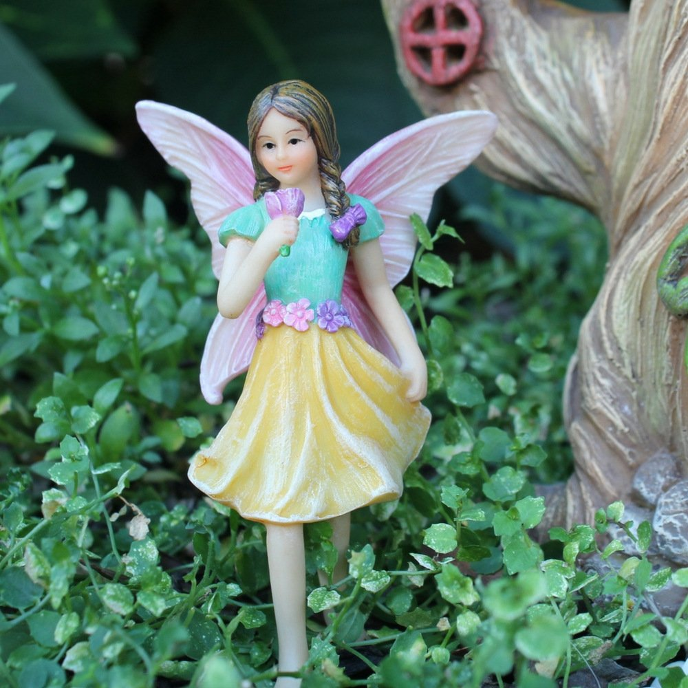 """Fairy Garden House Accessories Kit – Miniature Fairy Figurines – 7"""" High House – Door can open wide – Supplies by Pretmanns by Pretmanns (Image #5)"""