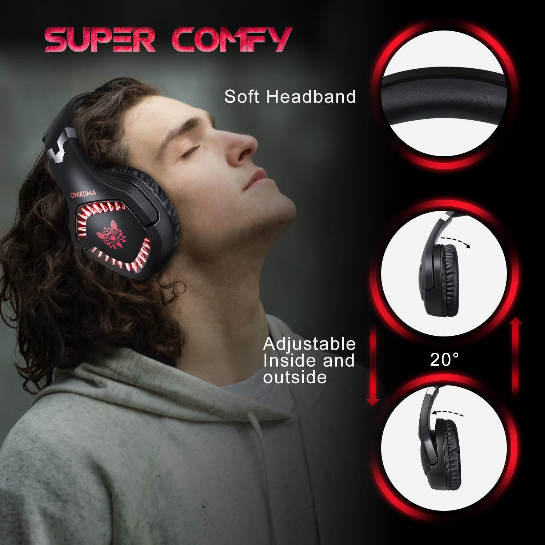 HOMVILLA Gaming Kopfhörer Computer PC Kopfhörer mit Mikrofon Stereo Sound zum PS4 Xbox One PC Geräuschunterdrückung Über dem Ohr Kopfhörer mit Mikrofon 3,5 mm Klinkenlautstärkeregler