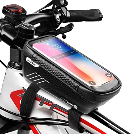 Bike Bicycle Waterproof Phone Case Bag Touch Screen Cover W// Handlebar Mount