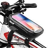 WILD MAN Bolsa suporte de celular para bicicleta, bolsa de guidão impermeável com suporte de tela sensível ao toque para part