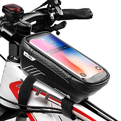Bicycle Bike Front Top Tube Frame Bags MTB Waterproof Touch Phone Holder Case UK