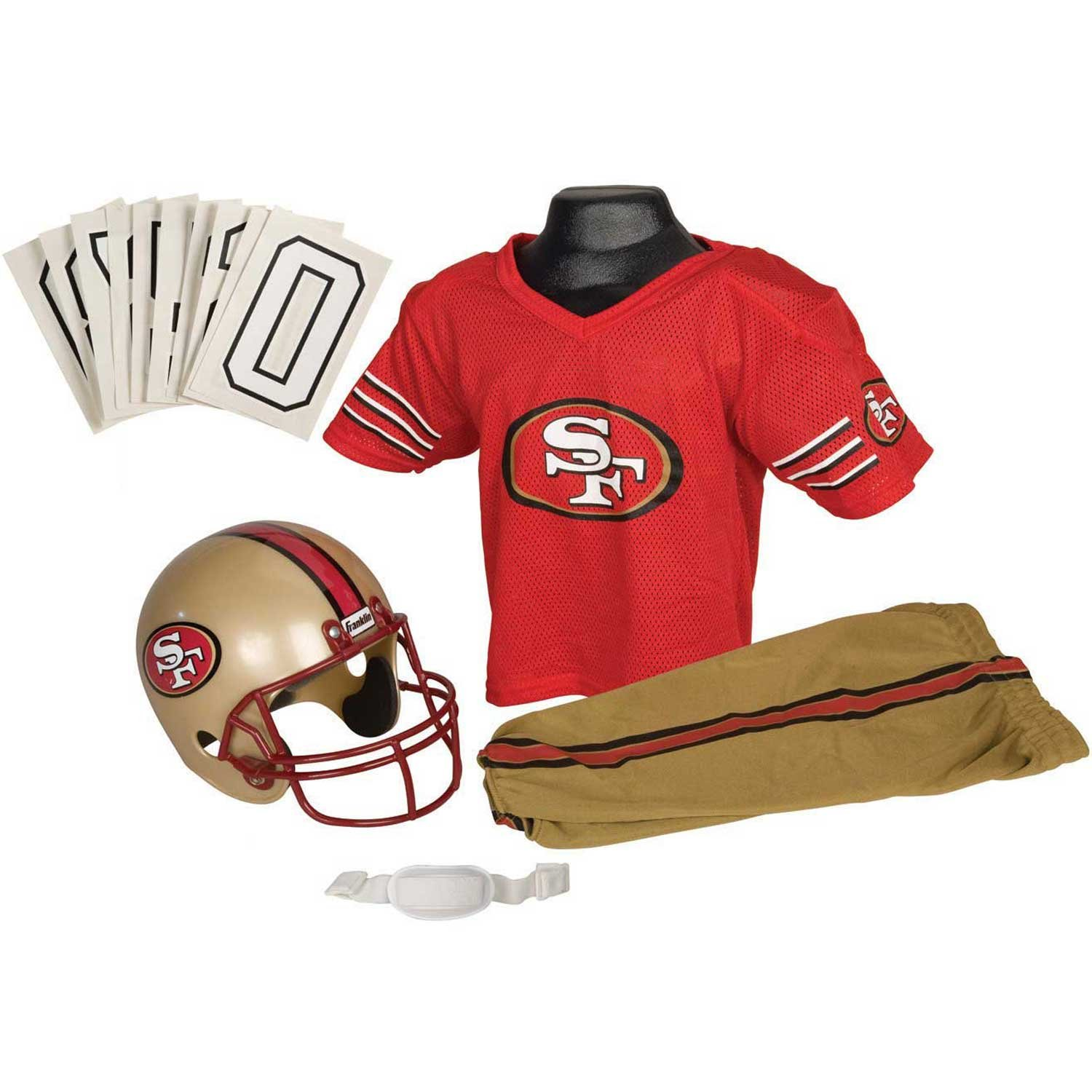 92ee5ef5bbb Deluxe Youth Uniform Set · Youth Helmet and Jersey Set · San Francisco 49ers  Uniform Costume · Colin Kaepernick White Jersey · Colin Kaepernick Scarlet  ...