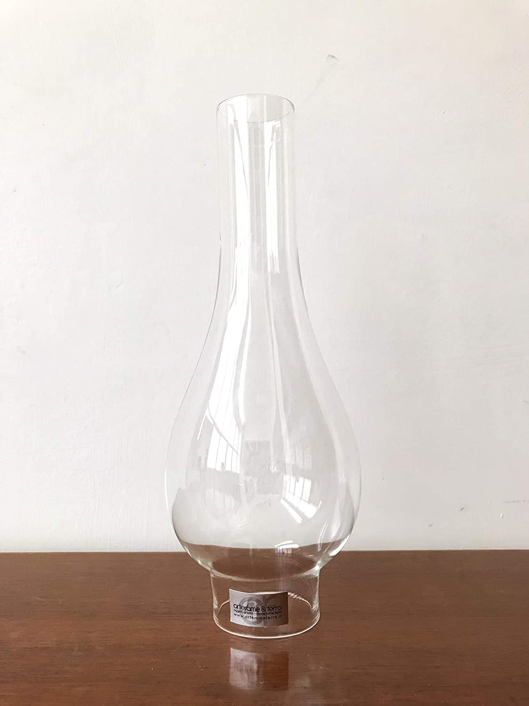 Paralume in vetro base 4 cm per lampade a petrolio