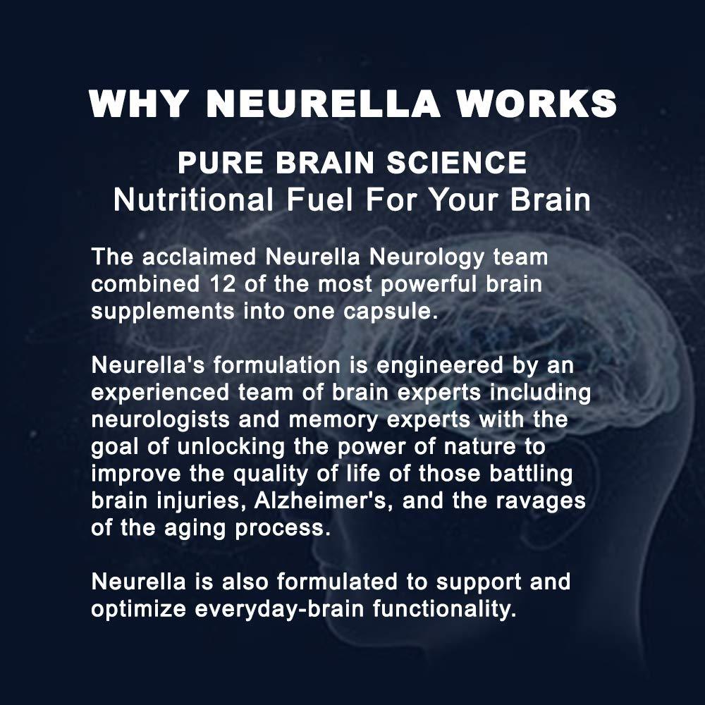 Neurella Extra Strength Brain Supplement – Powerful Brain Food & Memory  Booster  Improve Focus, Clarity