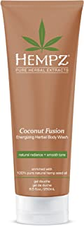product image for Hempz Hempz herbal body wash, pearl white, coconut fusion, 8.5 fluid ounce, 8.5 Ounce