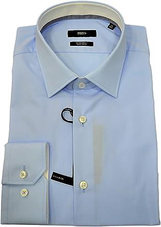 BOSS Hugo 50415621 Guran Regular Fit Celeste - Camisa para hombre: Amazon.es: Ropa y accesorios