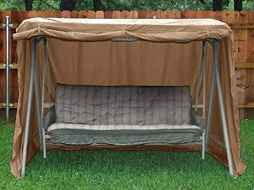 Covermates – Canopy Swing Cover – 86W x 50D x 70H – Ultima – 600D Fade Resistant Poly – Breathable Covered Mesh Vent – Buckle Straps – 7 YR Warranty Weather Resistant – Ripstop Tan