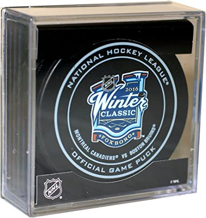 Montreal Canadiens Sherwood Official NHL Game Puck in Cube