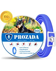 PROZADALAN Flea and Tick Collar for Dog Waterproof, 8 Month Effectiveness Natural Dog Anti Flea Collar with 27.6' Super Length fits for Small Medium Large Pets | Adjustable