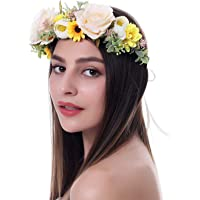 Ever Fairy - Diademas de flores para mujer, corona de flores para boda, fiesta, corona de flores para mujer, corona de…