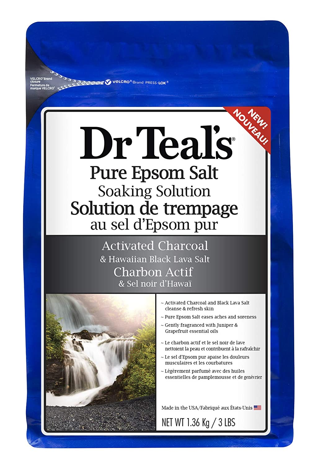 Dr Teal's Activated Charcoal Epsom Salt, 1.36 Kilogram PDC Brands
