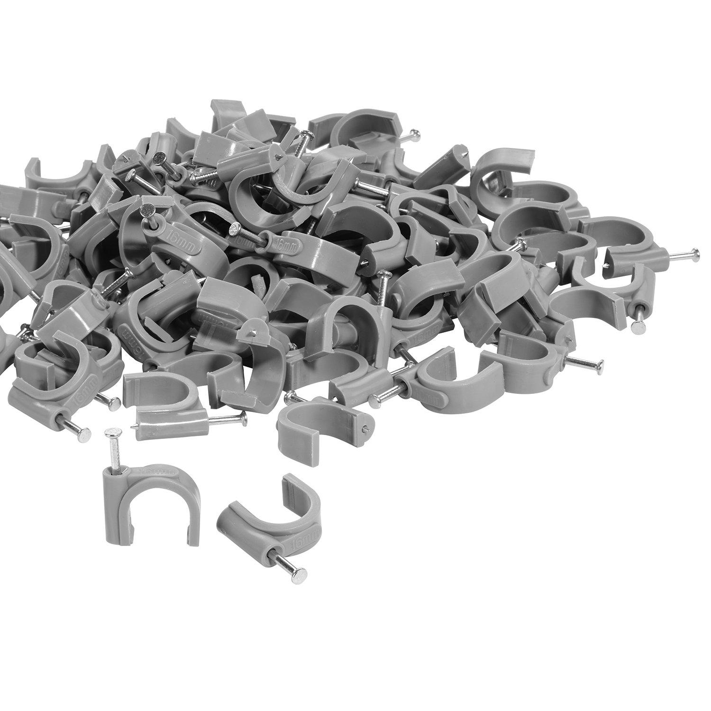 f/ür Maximal 4mm Leitungen TPFNet Kabelschellen Nagelschellen Grau 100 St/ück