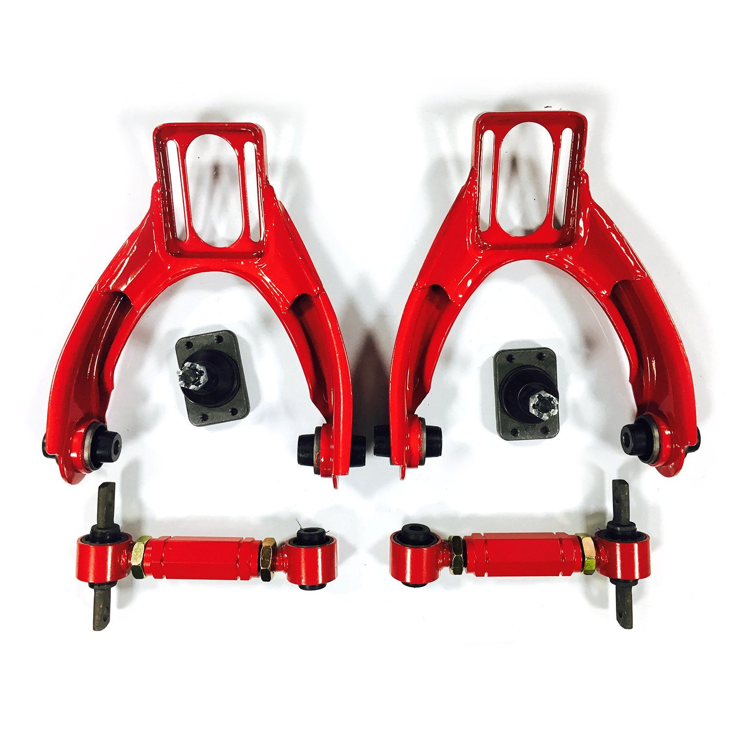 4PC Front & Upper Racing Suspension Steel Adjustable Camber Arm Control Kit for 1996 1997 1998 1999 2000 Honda Civic 1.6L L4 by MILLION PARTS
